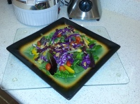 Kim Evans, Green Salad with Purple Cabbage
